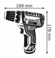 Bosch GSR12V-15 méretei